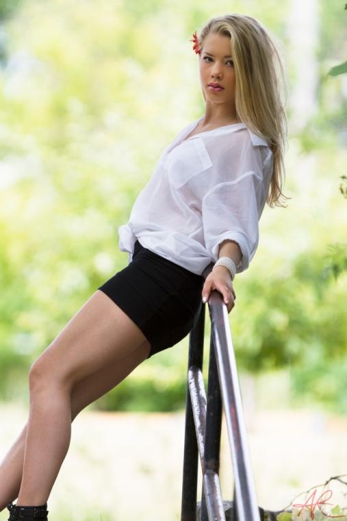 Ida on the railing